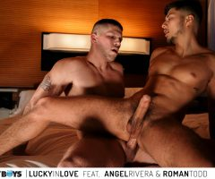 "Jake Jaxson & RJ Sebastian present the next episode in our new ""quickie"" series, LUCKY IN LOVE starring Angel Rivera & Roman Todd"
