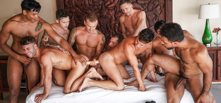 THE LUCAS MEN'S HOT-AND-HEAVY ORGY   PART 01